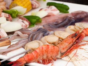 Assorted Seafood for BBQ
