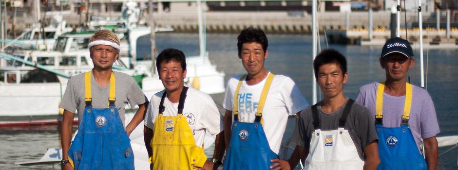 白浜温泉の漁師メンバーです!漁師の元気印を見てください
