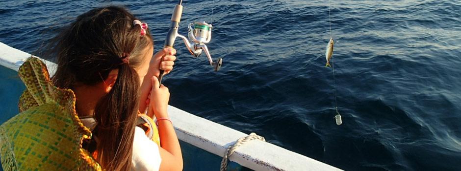漁師の船にのって海釣り体験やダイビングショップもフィッシャーマンズワーフ白浜にはあります